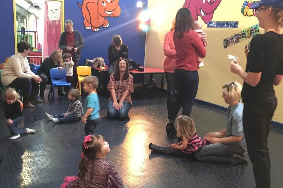 Kids sat in a circle
